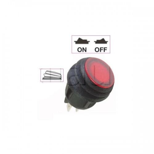 Mini interrupteur à bascule ON-OFF - Perçage ø 20 mm - Eclairage par LED24V