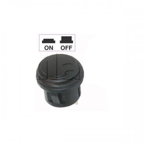 Interrupteur - contacteur à bouton poussoir noir ON-OFF