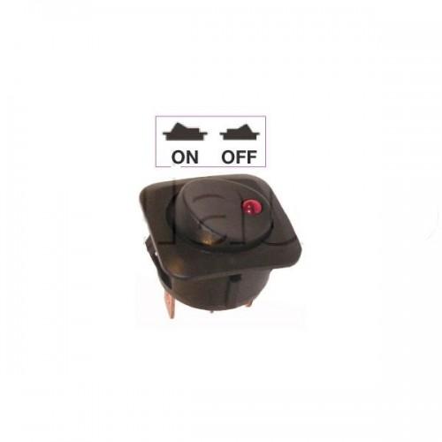 nterrupteur à bascule vert ON-OFF - Perçage ø 26 mm - Avec voyant Led 12V