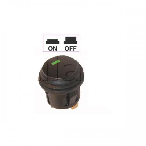 Interrupteur - contacteur à bouton poussoir ON-OFF - Avec voyant Led VERT 12V