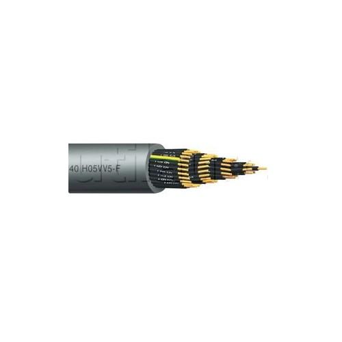 Câble HO5VV5-F de contrôle numéroté et harmonisé - Résistant aux huiles 16x1MM2 NOIR