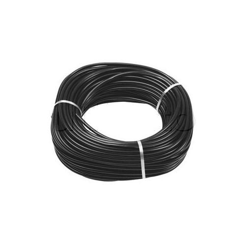 Gaine souplisseau noire en PVC chargé 7mm - Aspect satiné - Vendu AU M