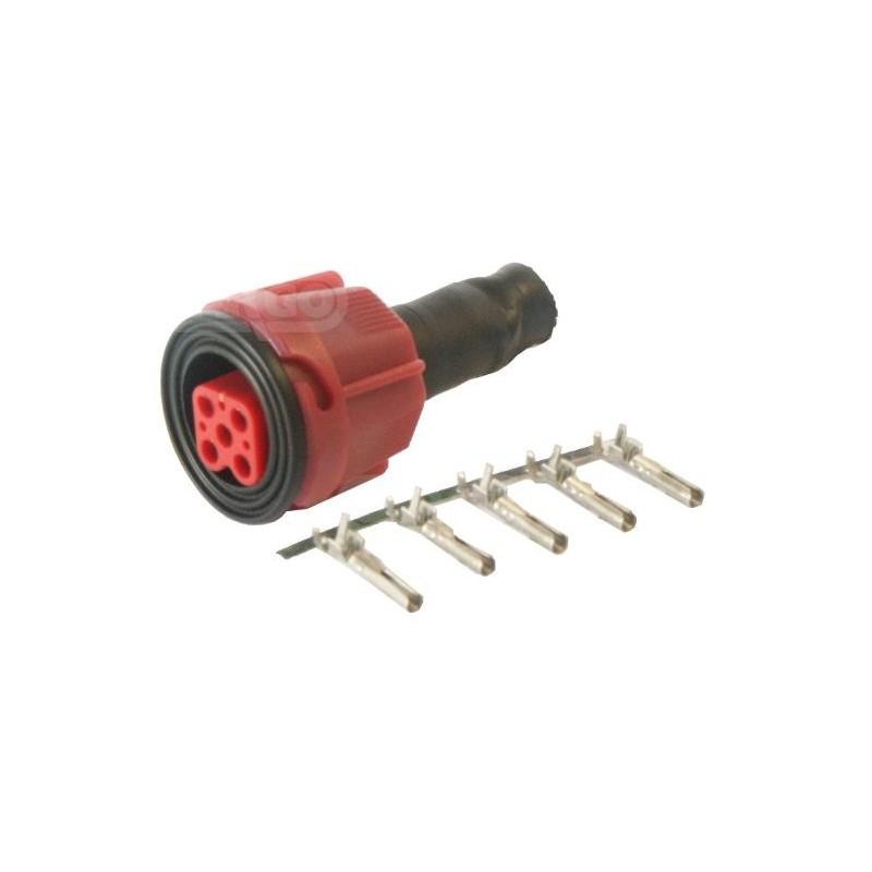 Connecteur de feux 5 poles Rouge