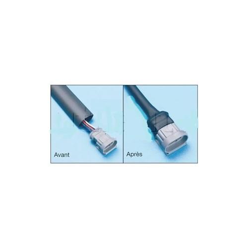Gaine thermorétractable en longueur 1.22 m - Rétreint 2 : 1 bleu