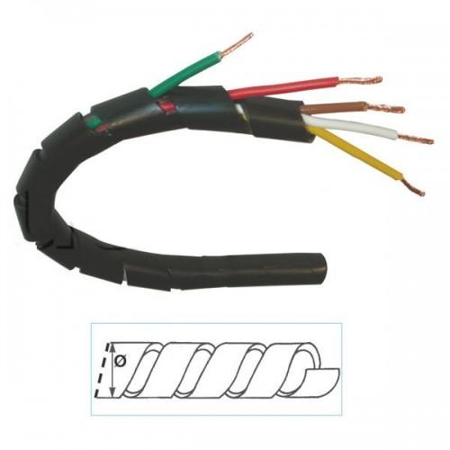 Gaine pour le frettage et la protection des câbles et faisceaux électriques DIAM. 9mm - Vendu au M