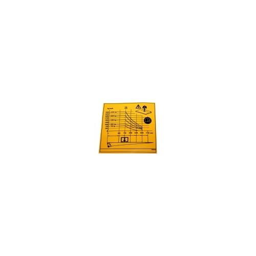 Autocollant abaque de charge 750 - 2500 KGS dhollandia EF0518.B