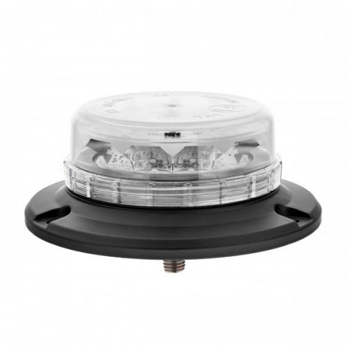 Gyrophare LED Orange Extra plat 1 Fixation centrale