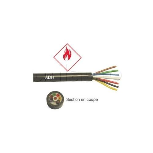 Câble ADR spécial transport matières dangereuses 2x1,5mm2 NOIR
