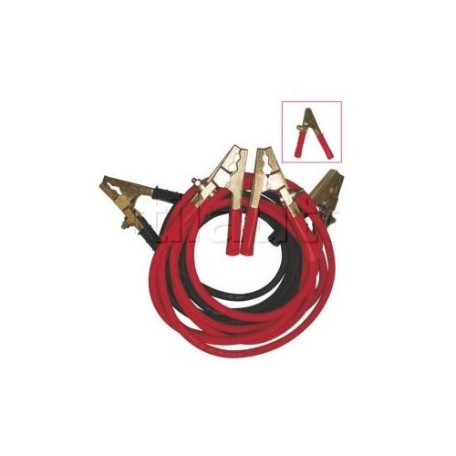 Câbles de démarrage poids lourds avec pinces LAITON modèle professionnel 5M 50MM2 1000A