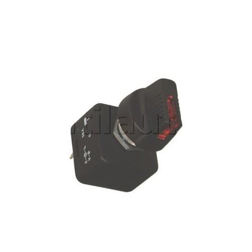 Interrupteur rotatif - IP53 ROUGE 12V