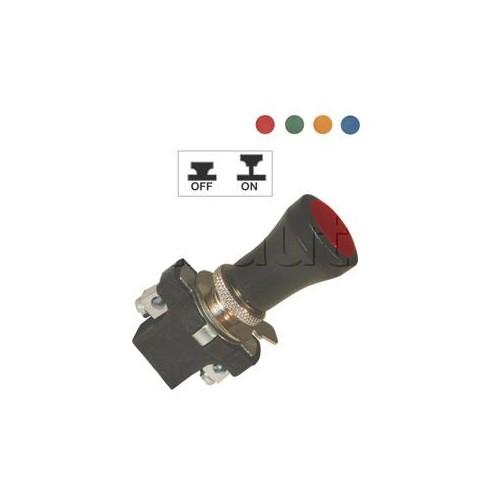 Interrupteur à tirette à lentille 6, 12 et 24 Volts ROUGE/VE/OR