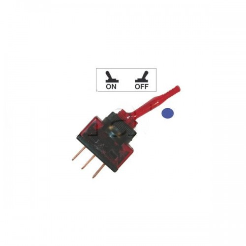 Interrupteurs à tige PVC lumineux BLEU