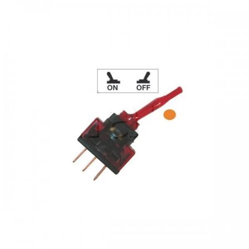 Interrupteurs à tige PVC lumineux ORANGE