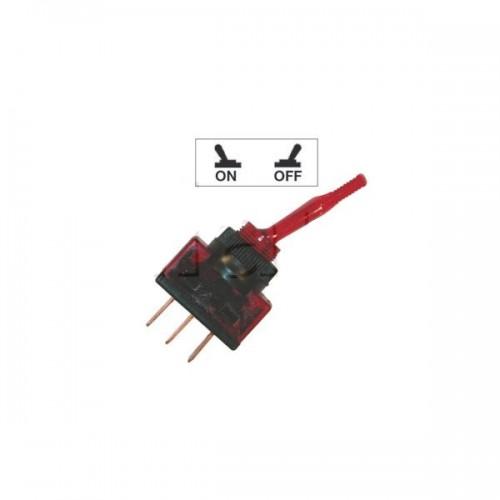Interrupteurs à tige PVC lumineux ROUGE