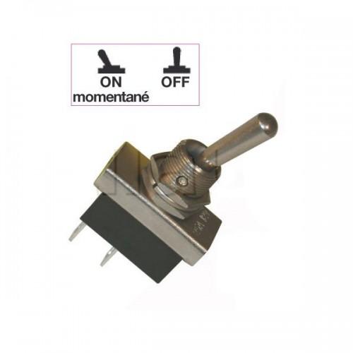 Interrupteurs à tige métal 20 mm - Connexions à fiches 6,35 mm - Série haute performance ON-MON