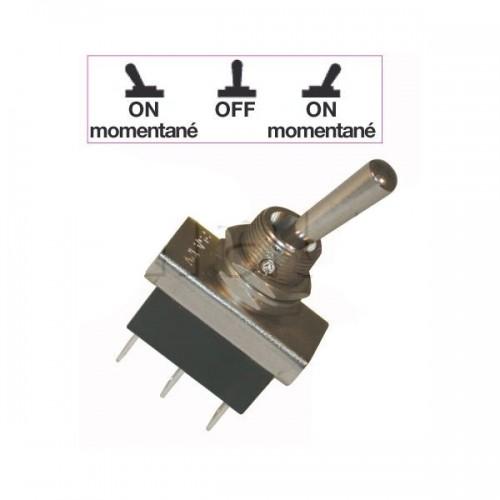 Interrupteurs à tige métal 20 mm - Connexions à fiches 6,35 mm - Série haute performance 2XON-MOM