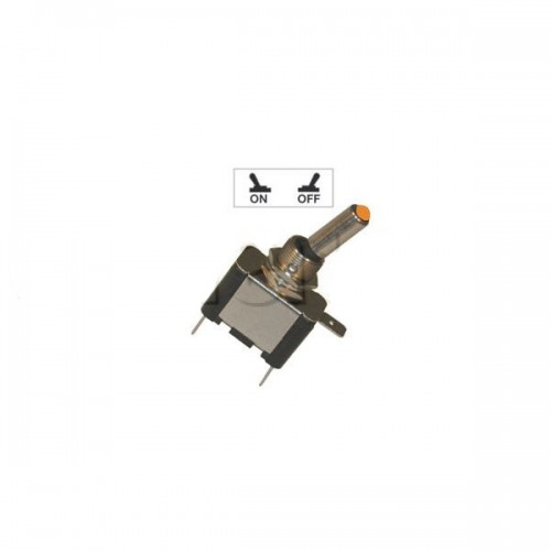 Interrupteur à tige avec voyant Led lumineux - Série haute performance ORANGE 12V