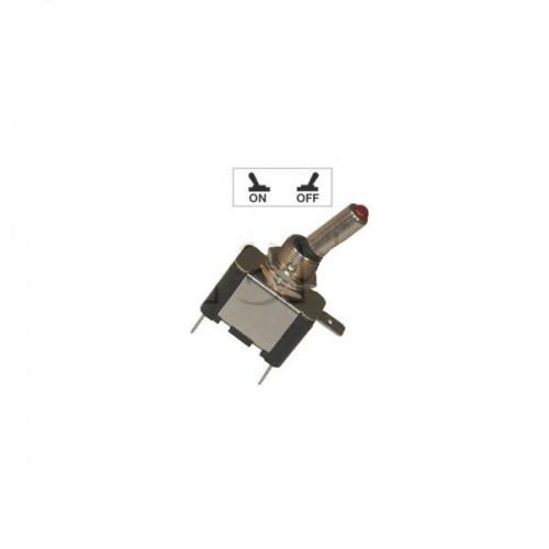 Interrupteur à tige avec voyant Led lumineux - Série haute performance ROUGE 12V