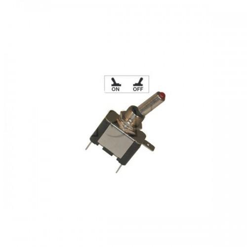 Interrupteur à tige avec voyant Led lumineux - Série haute performance ROUGE 24V.