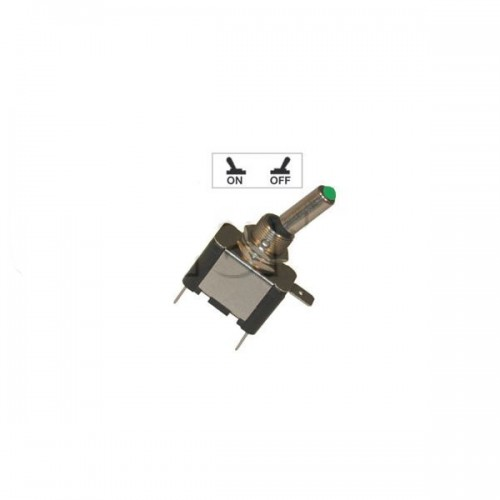 Interrupteur à tige avec voyant Led lumineux - Série haute performance VERT 24V.