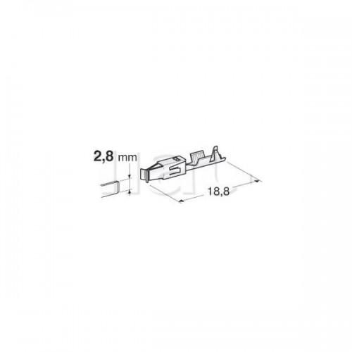 Cosses nues spécifiques 2.8mm-0.2-0,5mm2