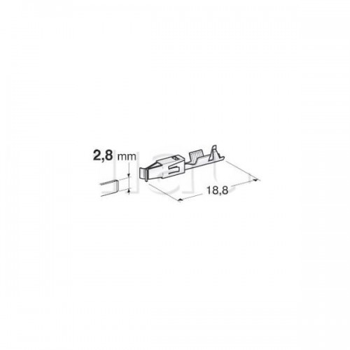 Cosses nues spécifiques 2.8mm-1.5-2.5mm2