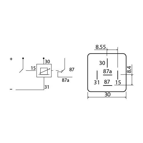 Relais programmable 24V 10A 0.5S à 6H