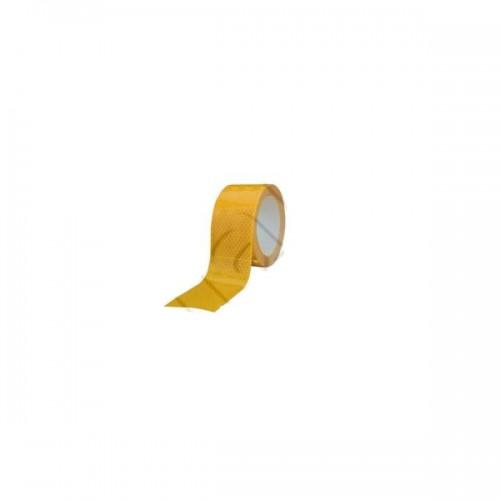Bande de contour de sécurité ECE104 pour poids lourds et remorques - Gamme PREMIUM - 3M JAUNE 50M