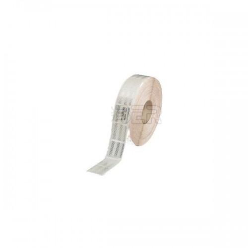 Bande de contour de sécurité ECE104 pour poids lourds et remorques - Gamme PREMIUM - 3M.51MM BLANC 50M