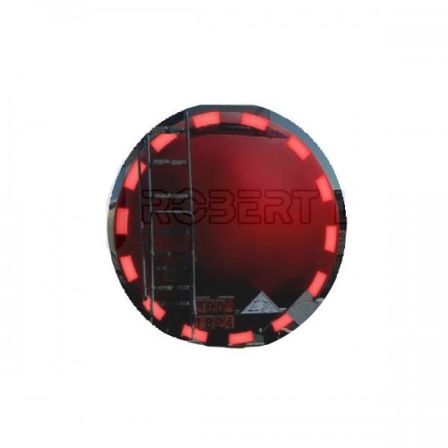 Bande de contour de sécurité ECE104 pour arrière de citerne - Gamme PREMIUM - 3M.106MM ROUGE 50M