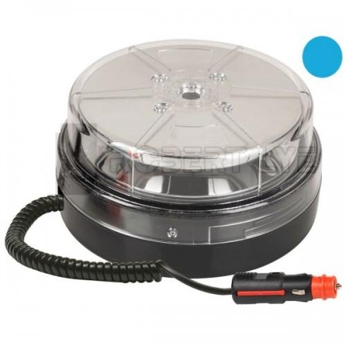 Gyrophare multi-effets orange ou bleu 12 Leds magnétique - 10/30 Volts BLU