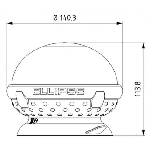 Gyrophare rotatif ELLIPSE magnétique - IP65