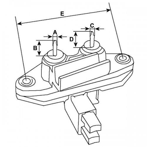 Régulateur 14 Volts, Bosch 0986192016, Mazda 8173-24-520, Mitsubishi A866803270