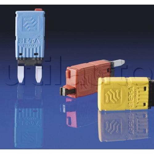 Fusibles disjoncteurs MINI réarmables manuellement 10A