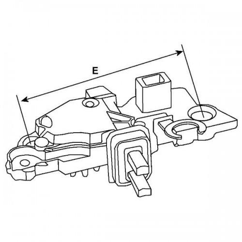 Régulateur 14 Volts, Mercedes benz 002-154-42-06, Volkswagen 055903803