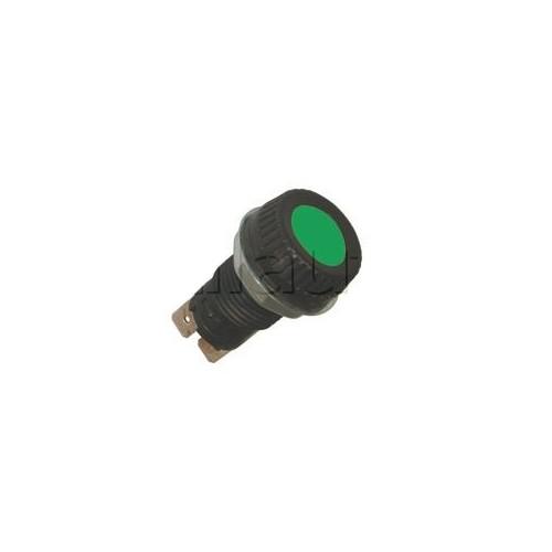 Voyants de contrôle 6, 12 et 24 Volts pour panneau épaisseur maxi 4 mm VERT