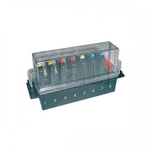 Boîte à fusibles spéciale avec couvercle surélevé pour 8 fusibles disjoncteurs série 2230