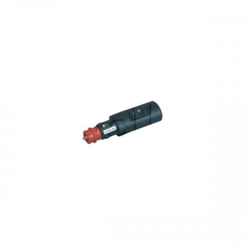 Fiches mâles pour alimentation électrique d'appareils ou d'accessoires CIGARE 12/24V 8A