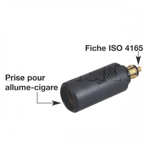 Fiches mâles pour alimentation électrique d'appareils ou d'accessoires 4165 12/24V