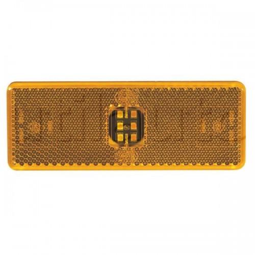 Feu latéral orange 6 Leds à plaquer pour Mercedes - 9/33 Volts - IP67