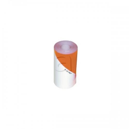 Bande à usage agricole blanc/orange fluo - Classe 1 GAUCHE(RLX 50m)