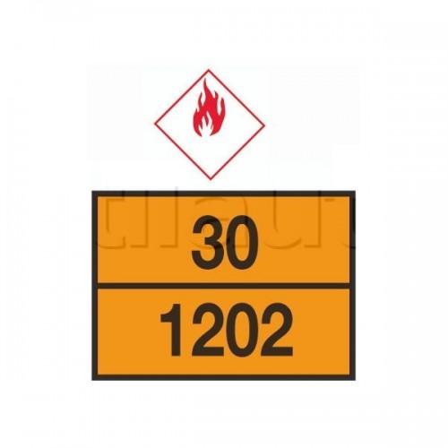 Rectangle d'identification orange réfléchissant 400 x 300 plaque galva avec numéros emboutis - ADR. 30-1202