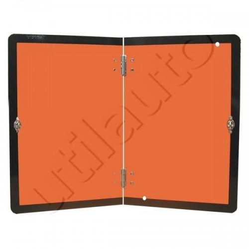 Rectangle d'identification orange réfléchissant 400 x 300 repliable - ADRVERTICALE 300X400