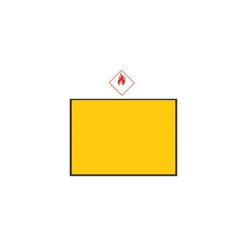 Rectangle d'identification orange réfléchissant 400 x 300 sans numéro - ADR SANS NUM