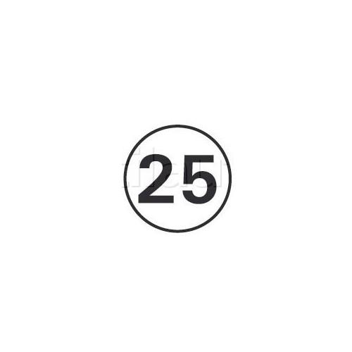 Disques limitation de vitesse 25 KM/H