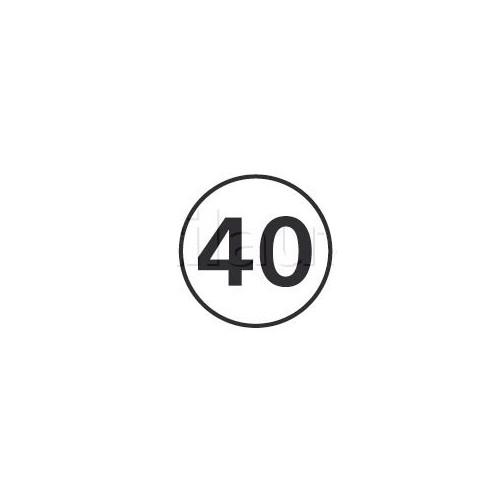 Disques limitation de vitesse 40 KM/H