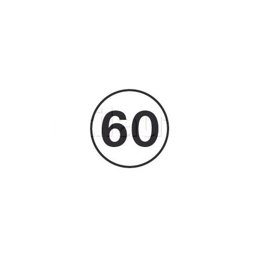 Disques limitation de vitesse 60 KM/H