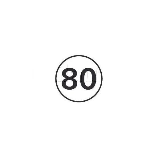 Disques limitation de vitesse 80 KM/H Adhésif