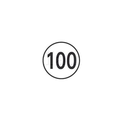 Disques limitation de vitesse 100 KM/H Adhésif