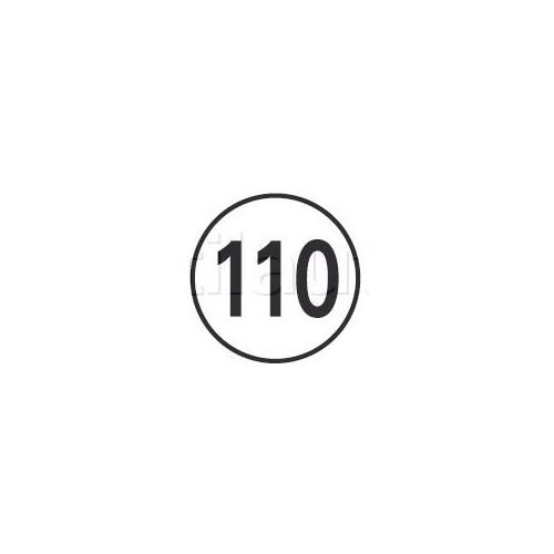 Disques limitation de vitesse 110 KM/H Adhésif
